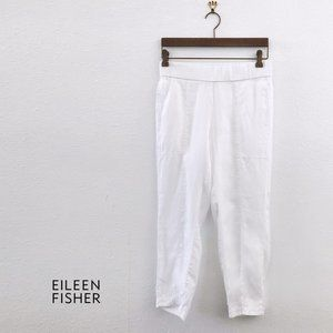 EILEEN FISHER 100% Organic Linen Cropped Pants